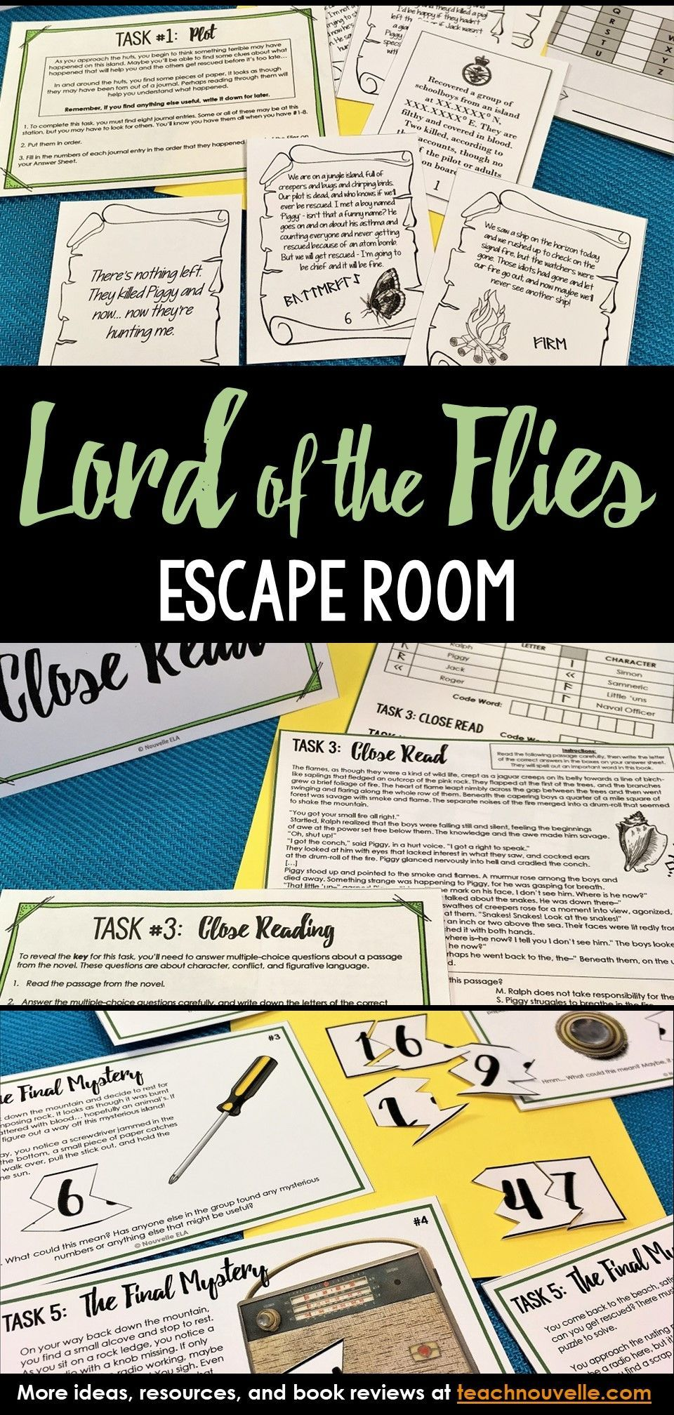 Lord Of The Flies Escape Room Review Activity With Images Lord