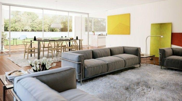 wohnideen wohnzimmer hellgrauer teppich farbige akzente кухня - wohnideen für wohnzimmer