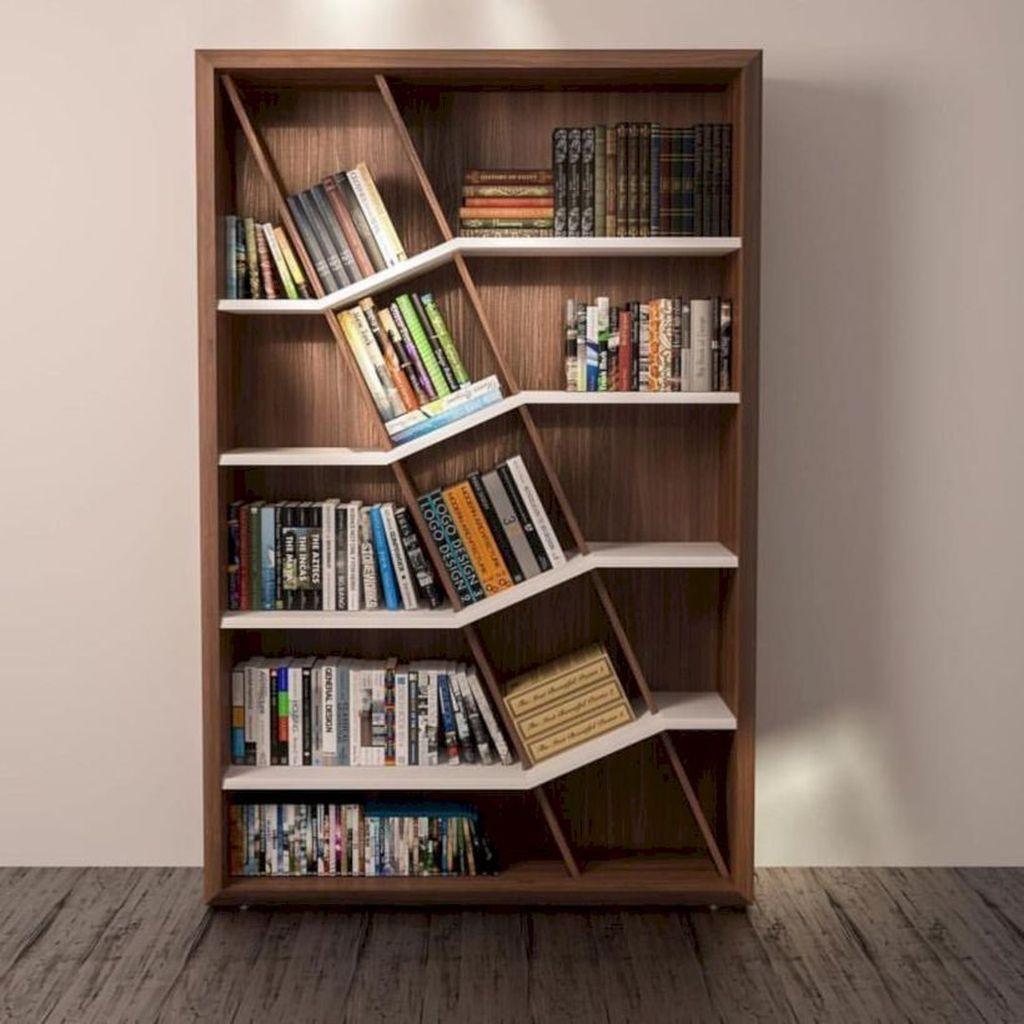32 Popular Simple Bookshelf Ideas Best For Living Room Decor Belihouse Com Bookshelves Diy Bookshelf Design Creative Bookshelves