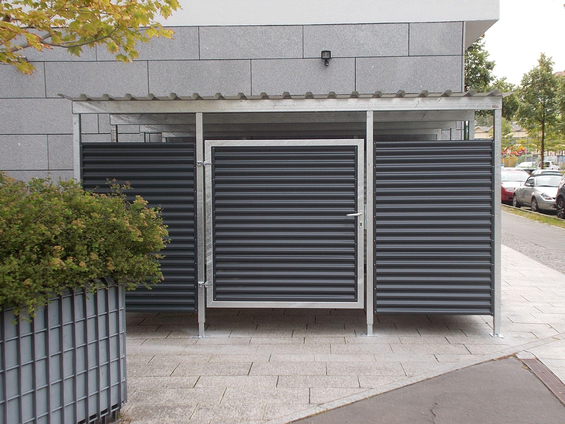 containerhaus m lltonnenhaus m lltonneneinhausung m lltonnenh uschen aus metall m lltonnen. Black Bedroom Furniture Sets. Home Design Ideas