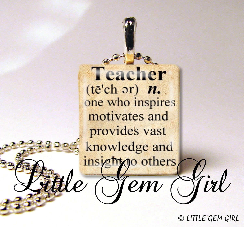 Teacher Quote Necklace Teacher Dictionary Definition 1