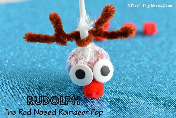 Quick Christmas Craft Ideas Part - 23: Reindeer Sucker, Fun Christmas Craft For Kids. Fast Christmas Crafts For  Children