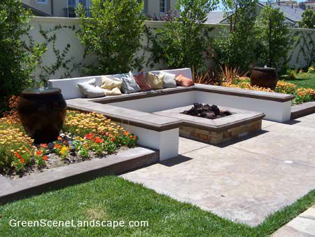 fire pit layout ideas | Project 2896 | Pinterest | Bench ...