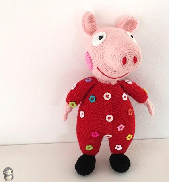 Amigurumi Cerdita Peppa Pig en Pijama mide 28cm - Patrón Gratis en ...