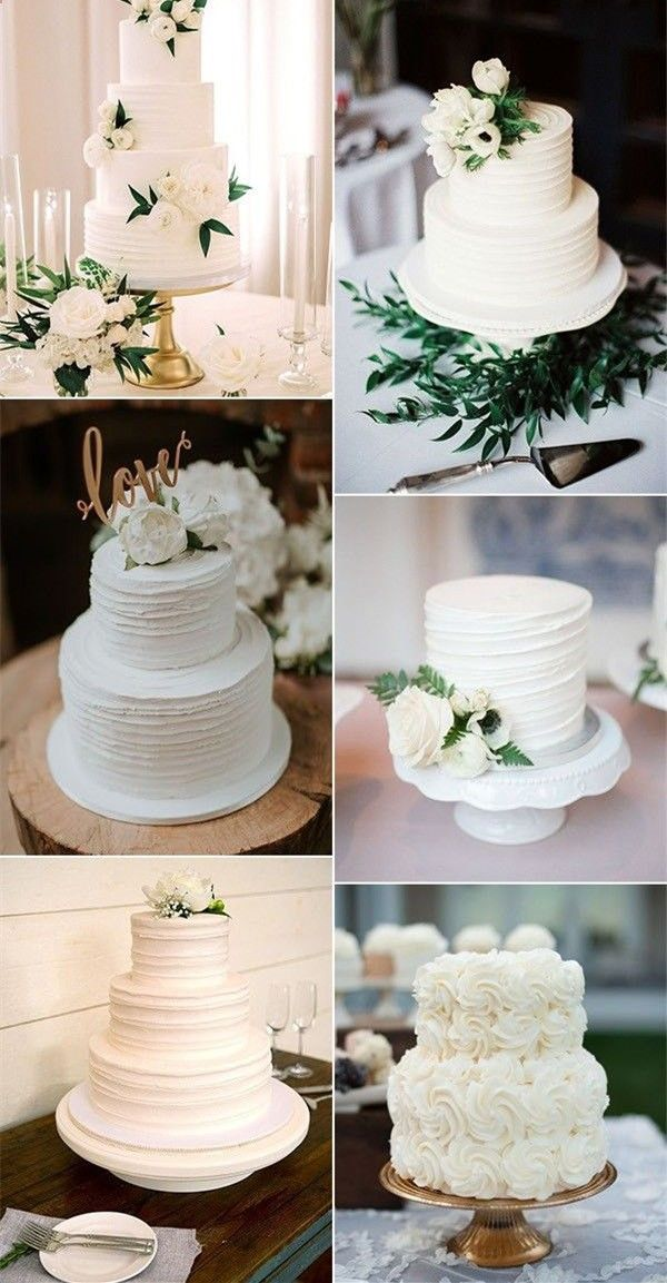46 Simple Wedding Cake Ideas for Your Wedding