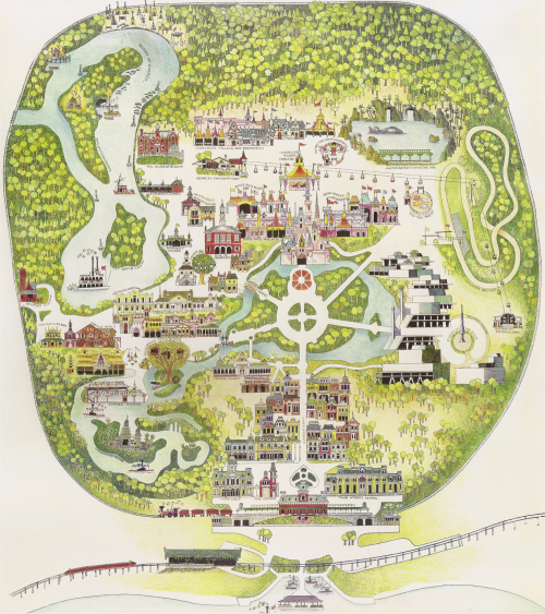 Walt Disney World  The First Decade in Maps is part of Disney world map -