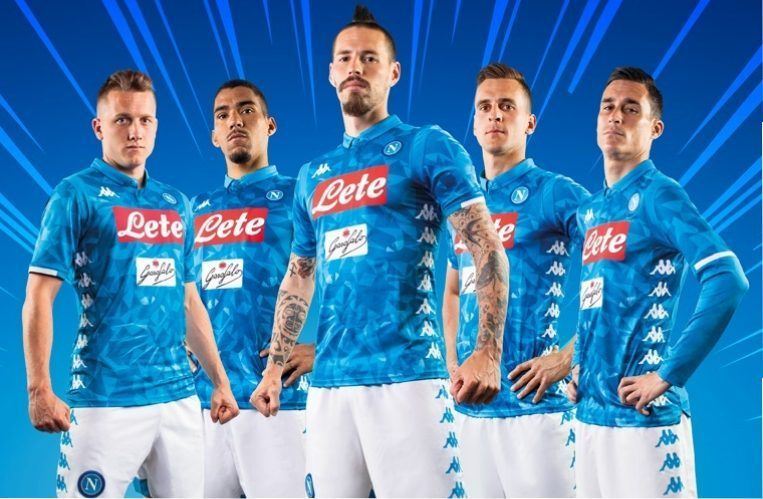 48e72f1a4 SSC Napoli 2018 19 Kappa Home Kit