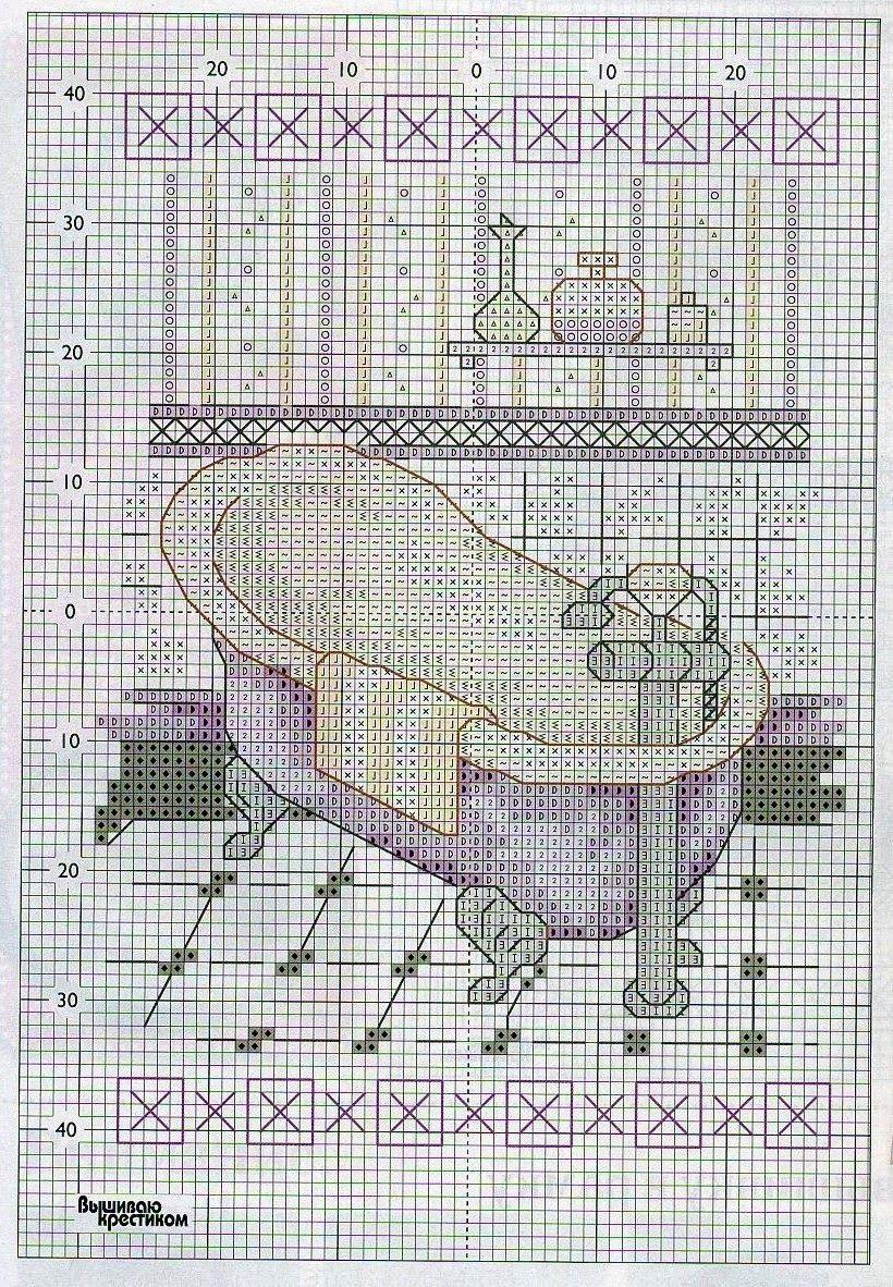 GRAFICOS PUNTO DE CRUZ GRATIS : BAÑOS(20)   alex   Cross stitch ...