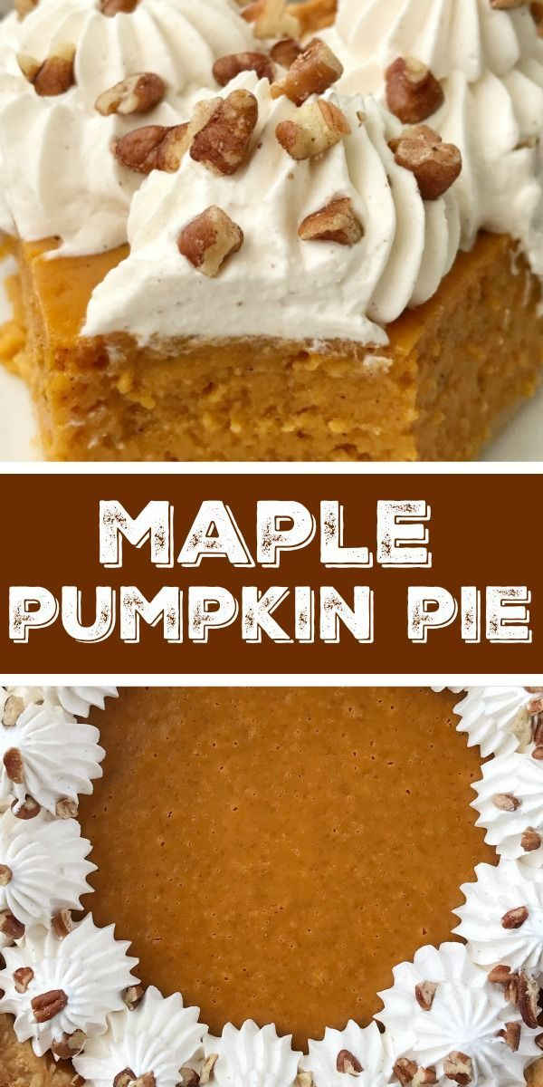 Maple Pumpkin Pie | Together as Family