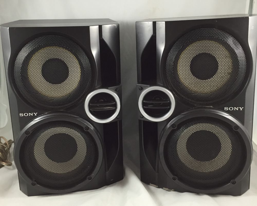 Sony Speakers SS RG40 Pair Stereo Hybrid Dual Woofer Home Theater Audio Tested