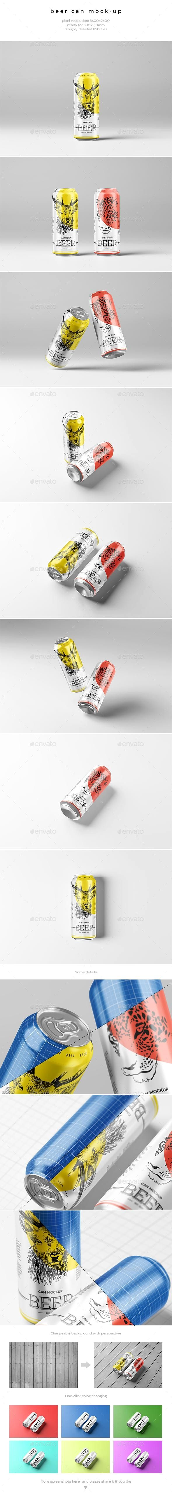 beer can mock up mockup psd template graphicriver