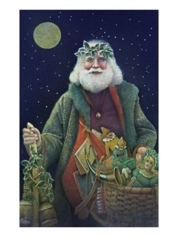 Father Christmas Giclee Print by Kirsten Soderlind at Art.com