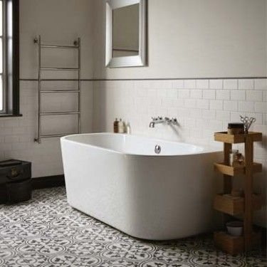 Back to wall bath baths shop by type bathrooms for Fired earth bathroom ideas