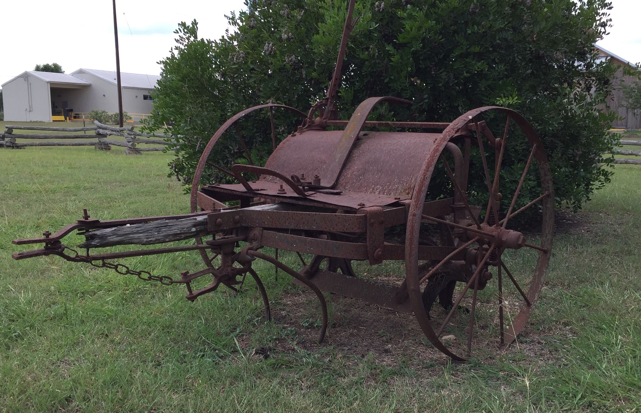 Round Top Tx Old Farm Equipment Vintage Farm Farm Equipment