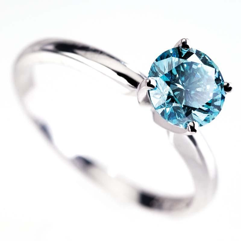 18k White Gold Stauer Blue Diamond Ring | My Style | Pinterest ...