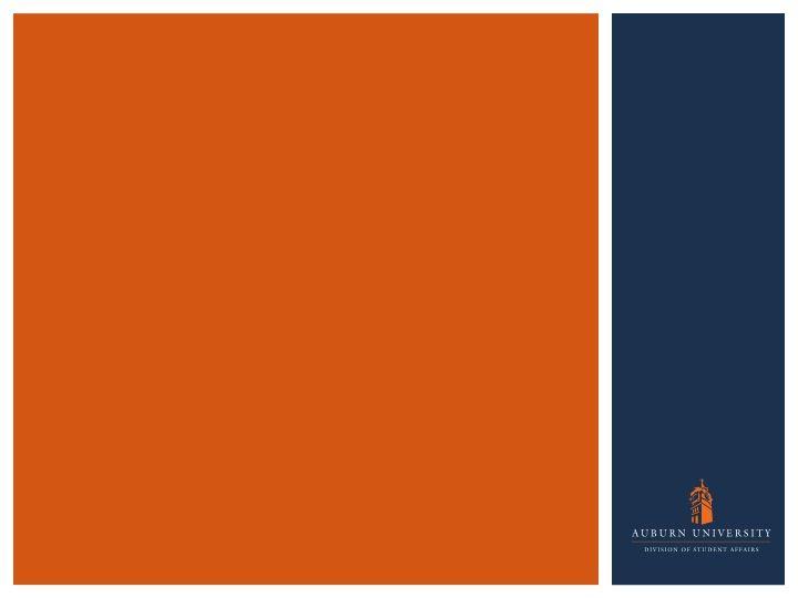 Auburn University Powerpoint Slide Ppt Orange Blue