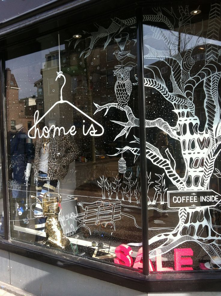 Like Use Of Illustration Retail Windows Displays