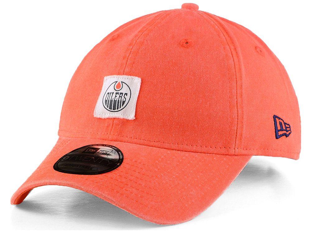 Edmonton Oilers New Era Nhl Stamped Logo Slouch 9fifty Strapback Cap Strapback Cap Edmonton Oilers Oilers