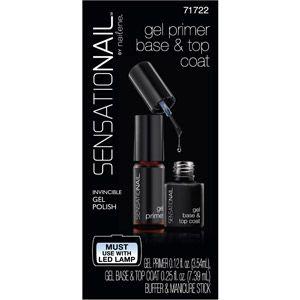 Sensationail Gel Primer, Base & Top Coat (Clear), 0.12 & 0.25 fl oz