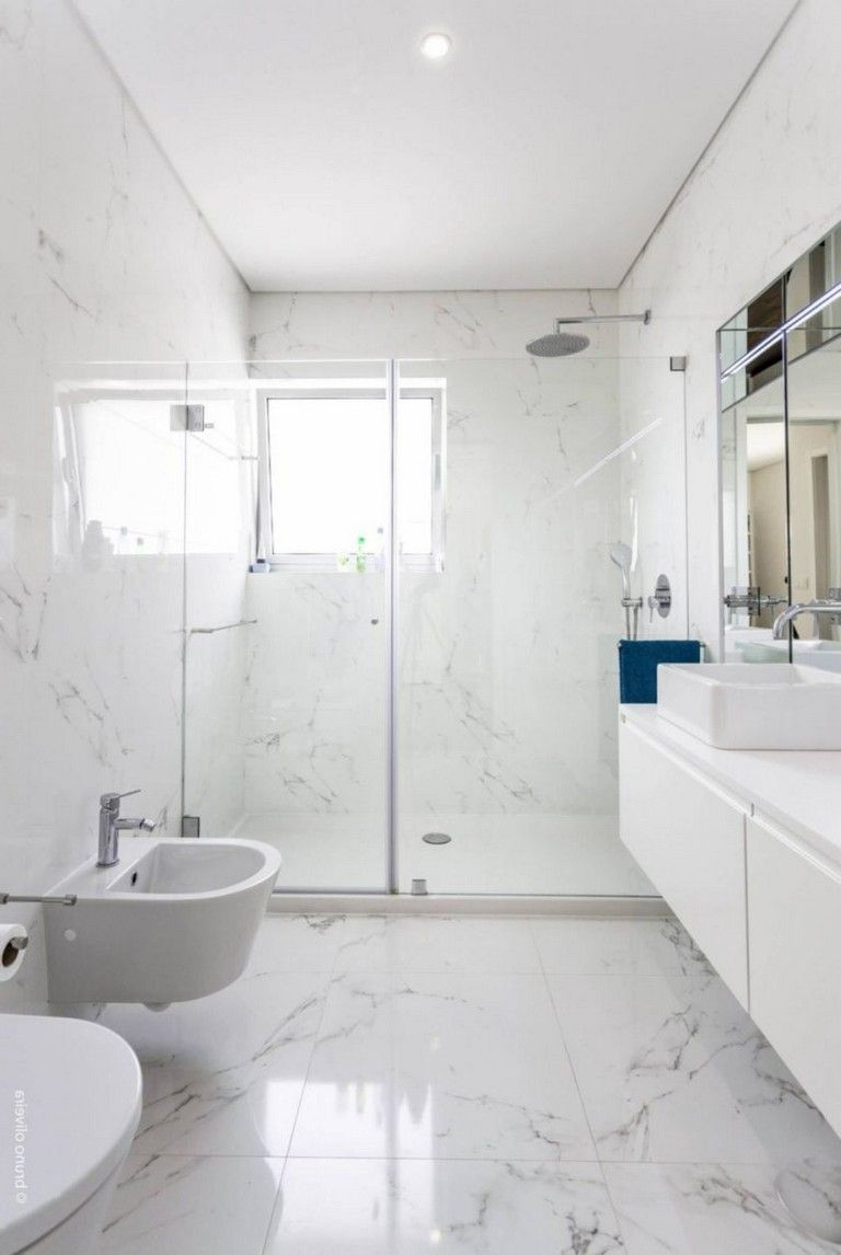 44 Unique Great Bathroom Design Ideas With Marble Bathroom Tile