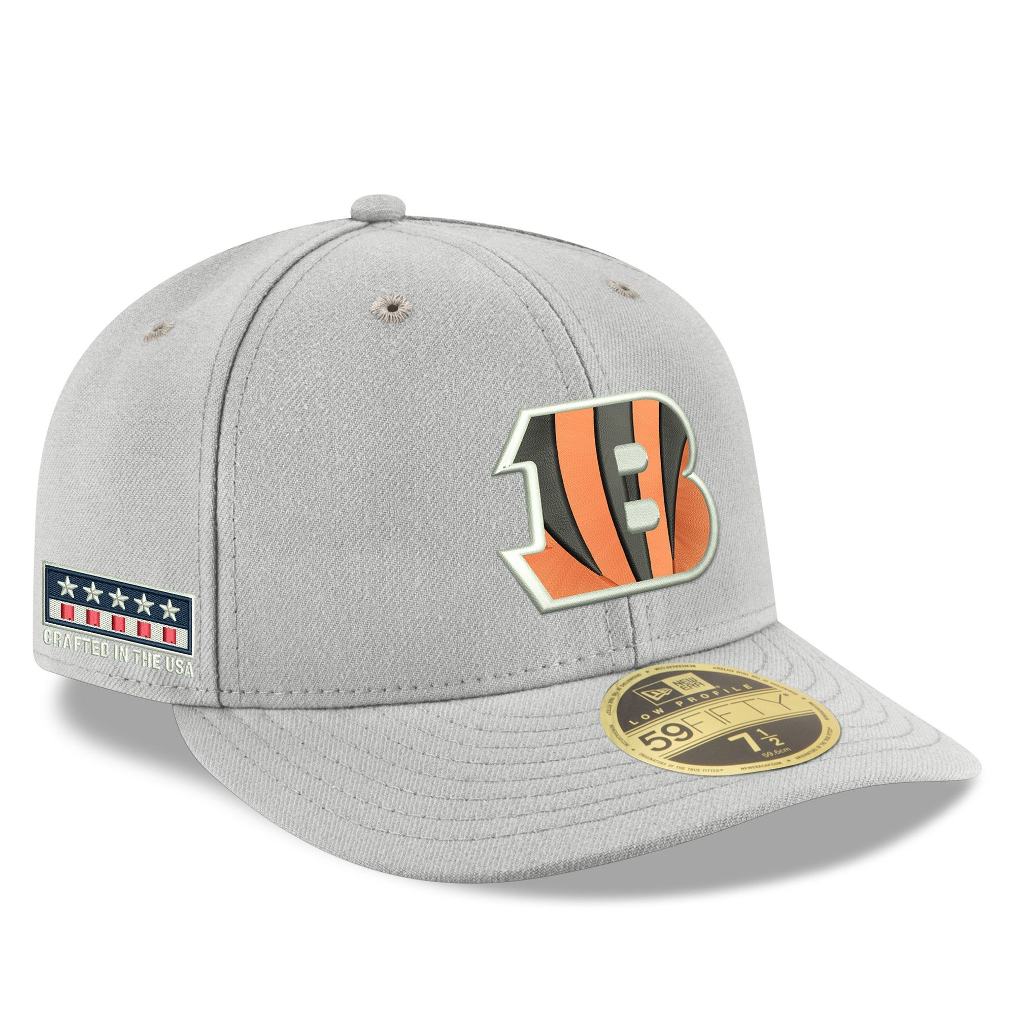 big sale 6902b 58021 Men s Cincinnati Bengals New Era Gray Crafted in the USA Low Profile  59FIFTY Fitted Hat, Your Price   39.99