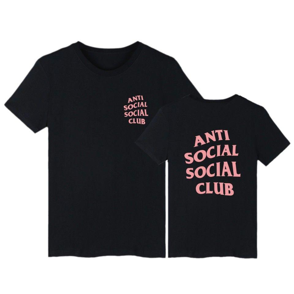 Anti Social Social Club Brand Hip Hop T Shirt Men T-shirt and GD Kanye