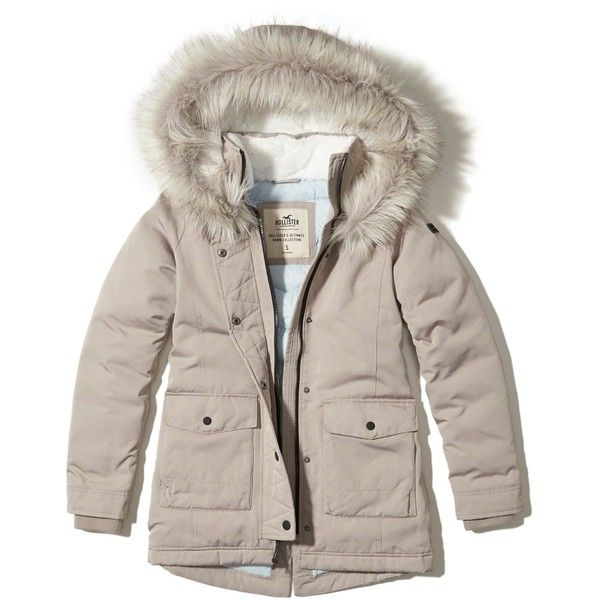 d4abf6688 Hollister Ultimate Down Parka (255 AUD) ❤ liked on Polyvore ...