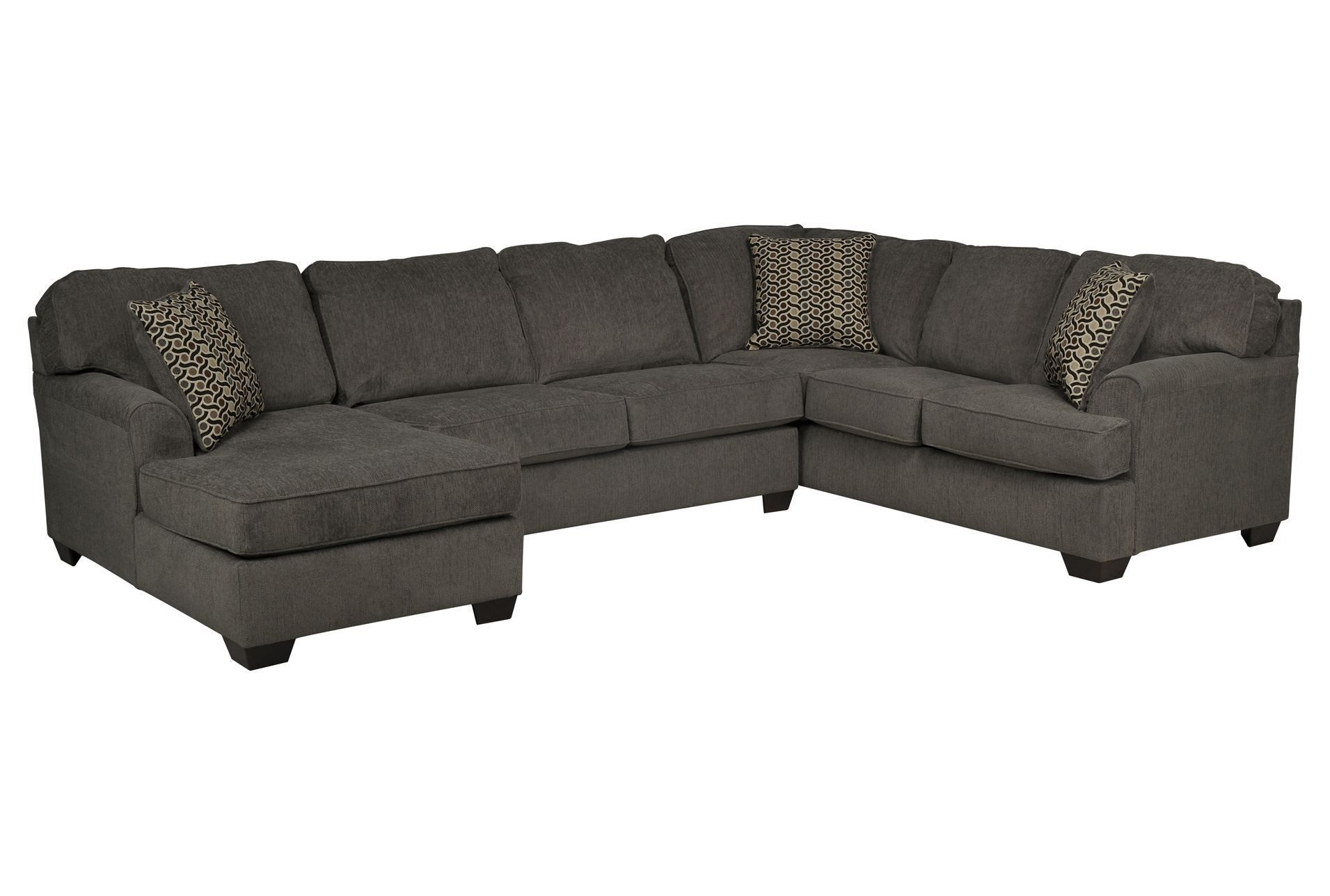 Loric Smoke 3 Piece Sectional W/Laf Chaise - Signature