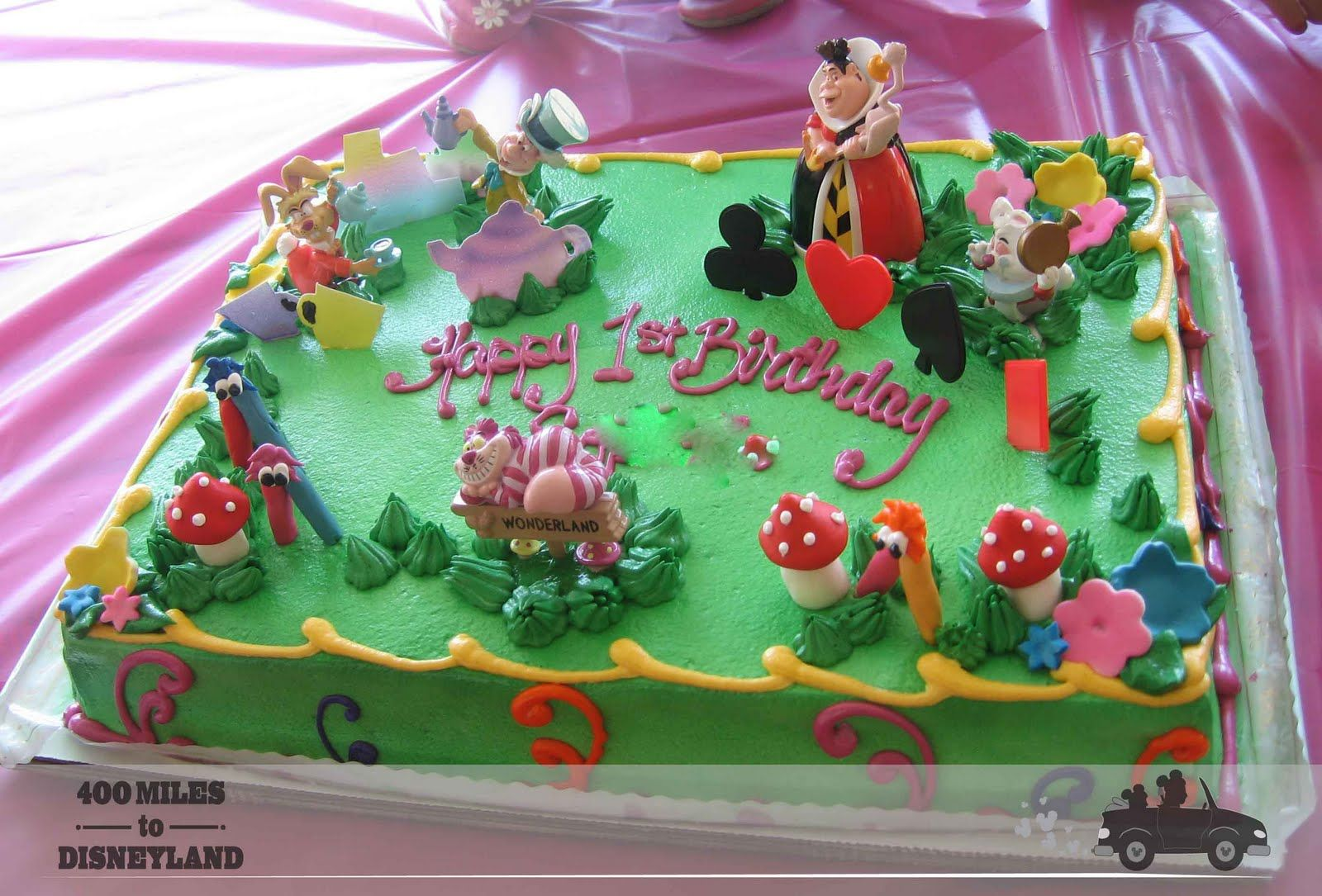 Alice In Wonderland Sheet Cake Alice In Wonderland Birthday