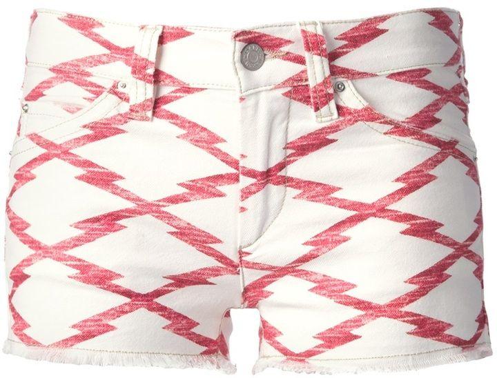 Etoile Isabel Marant jagged print denim hotpant on shopstyle.com