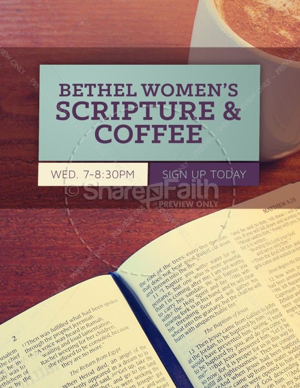 Youth Ministry Rooms: Women's Bible Study Church Flyer