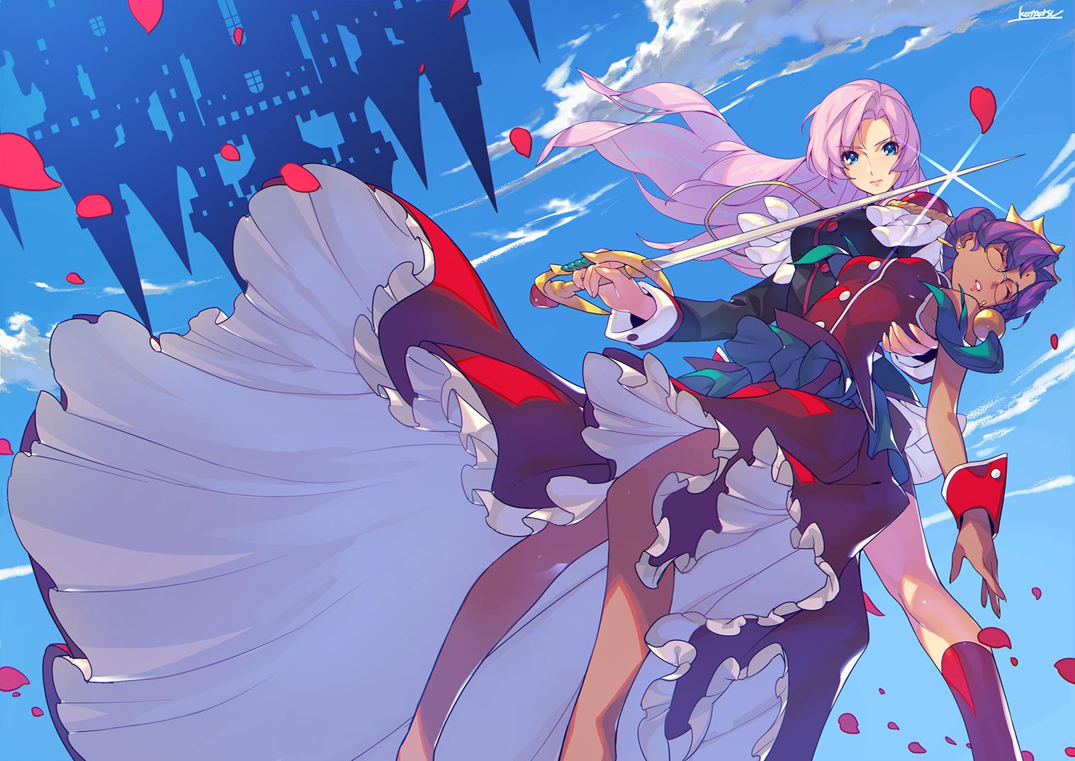 Utena And Anthy Utena Revolutionary Girl Utena Anime Sketch