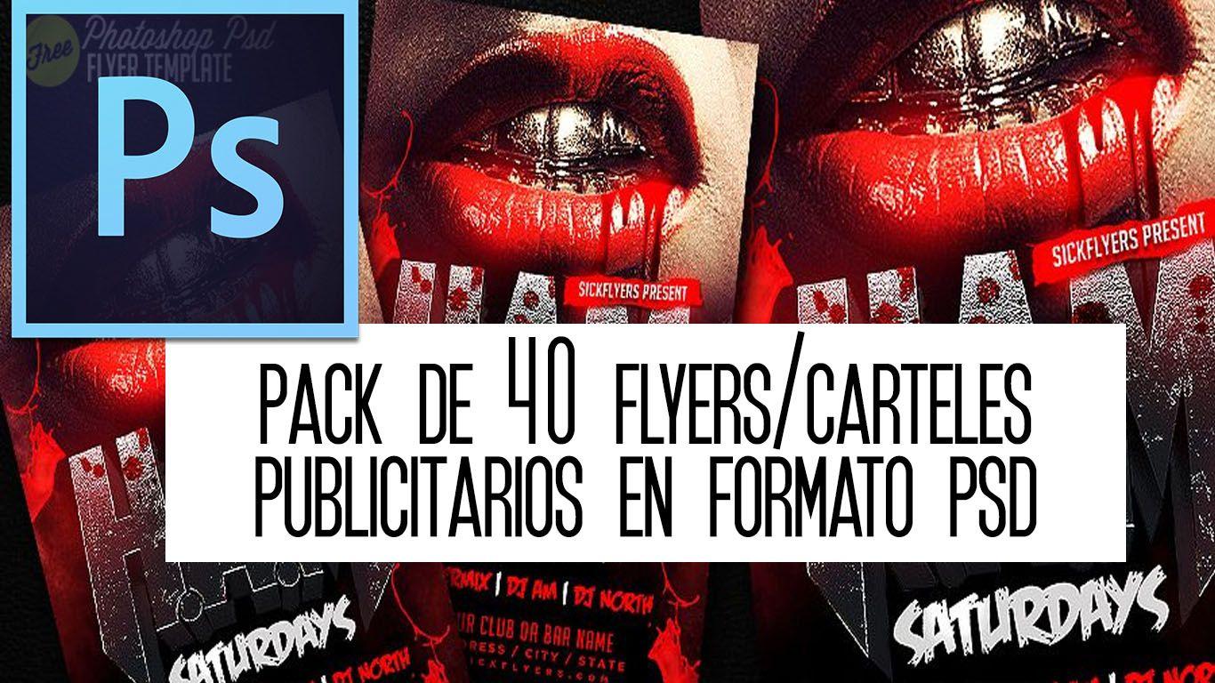 pack gratis 40 carteles y flyers editables en formato psd sharon