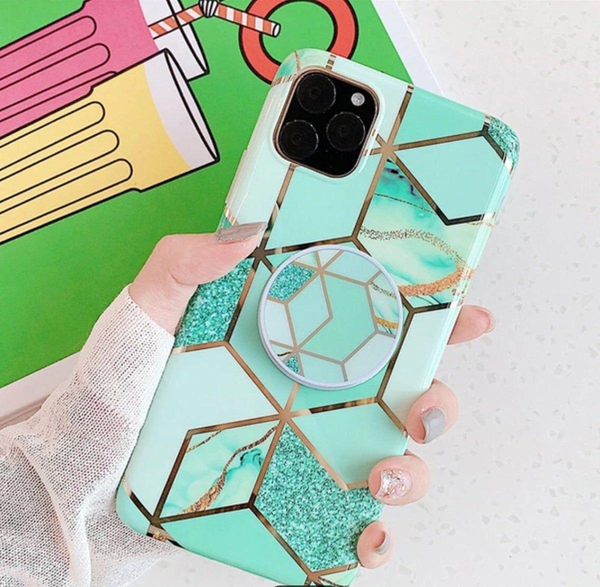 iPhone 11 Pro Max Case Geometric Marble en 2020 Fundas