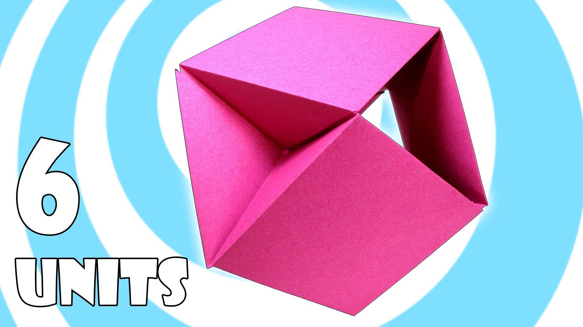 Modular Origami Ball Tutorial  6 Units   Tomoko Fuse