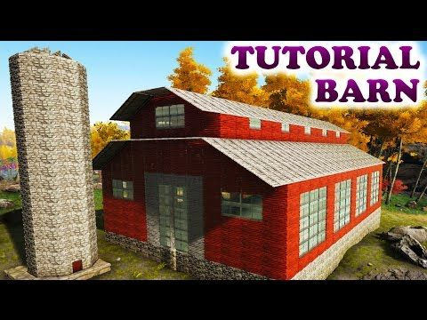 ARK AMERICAN RED BARN TUTORIAL (Building Tips and Tricks Ark