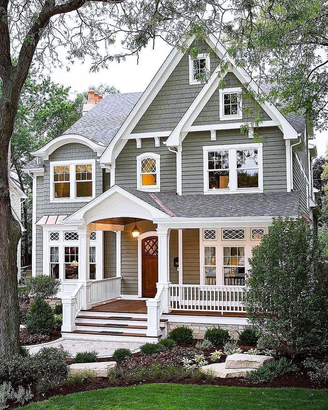 Inspiring Farmhouse Exterior Ideas In 2020 Cottage Style Homes Dream House Exterior House Exterior