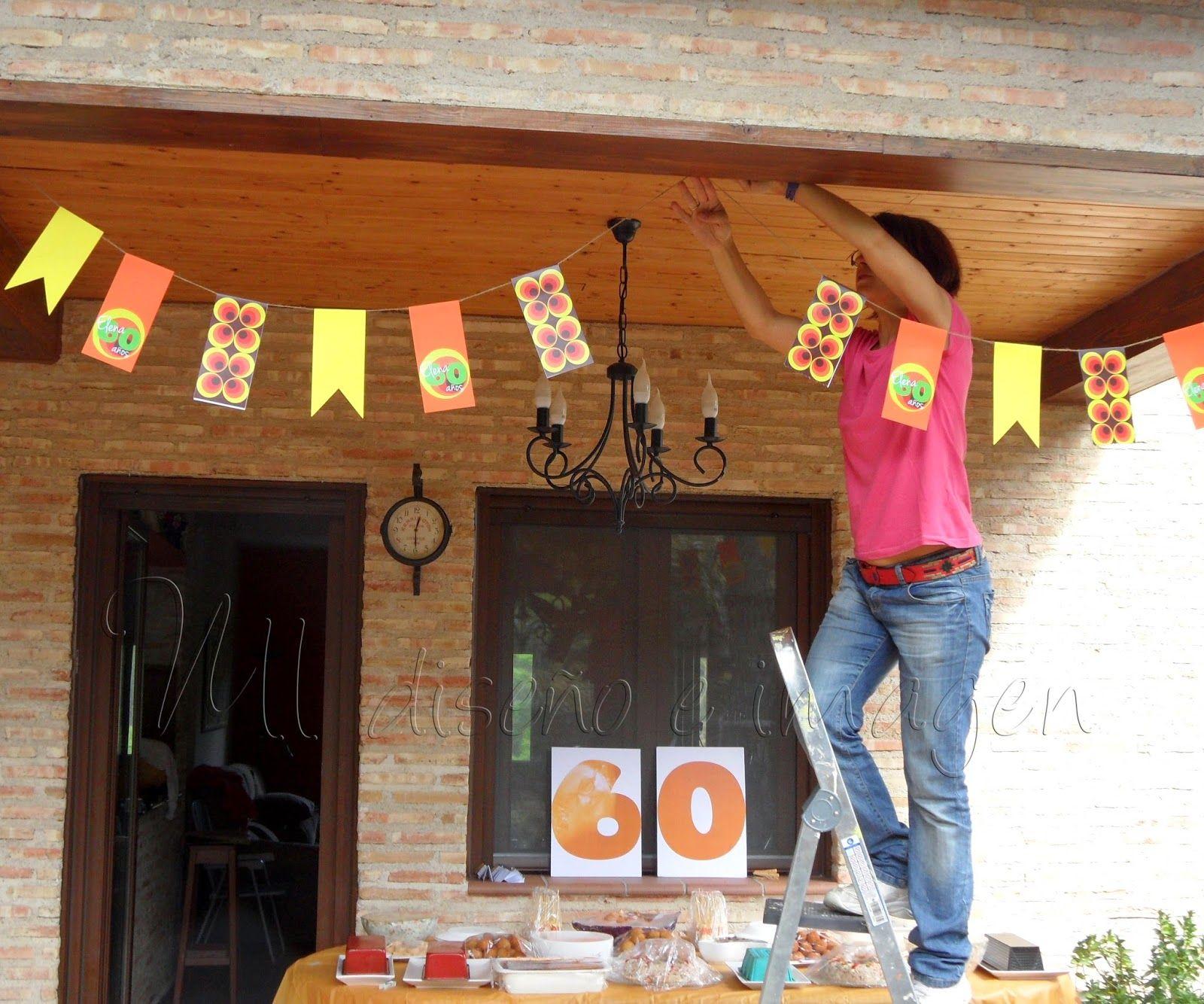Fiesta de cumplea os tem tica a os 60 60 a os - Decoracion cumpleanos adultos 60 anos ...