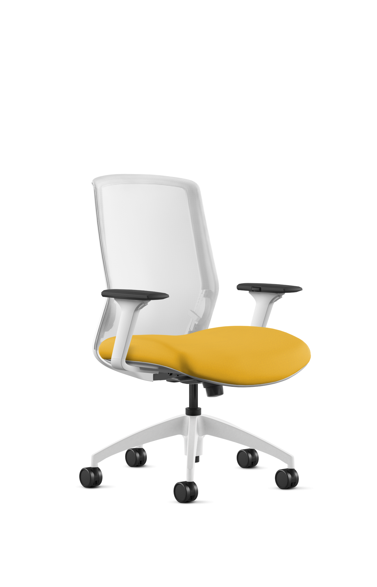 Colorful Bright Yellow Desk Chair That Can Bring A Chic Touch To