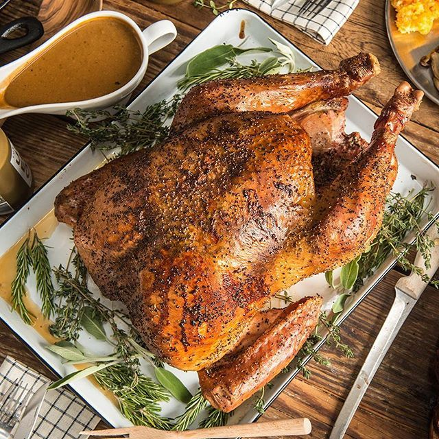 Roasted Wild Turkey With Herb Butter