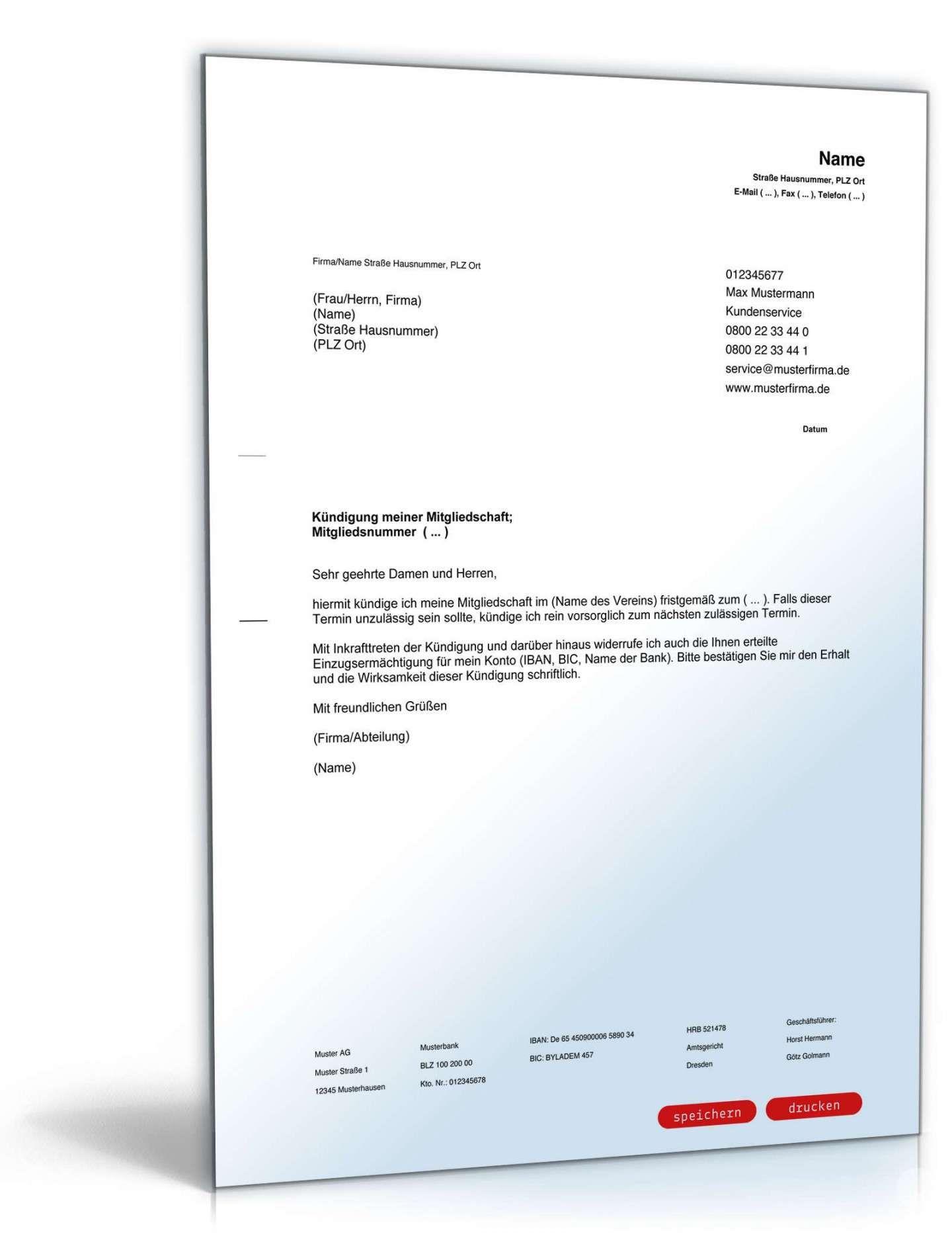 Kundigung Verein Vorlage Vorlagen Vorlagen Word Einladung Schreiben