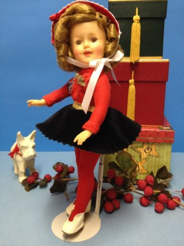 "* RARE Original 12"" Ideal Shirley Temple Doll In Her Ice Skater Outfit *"