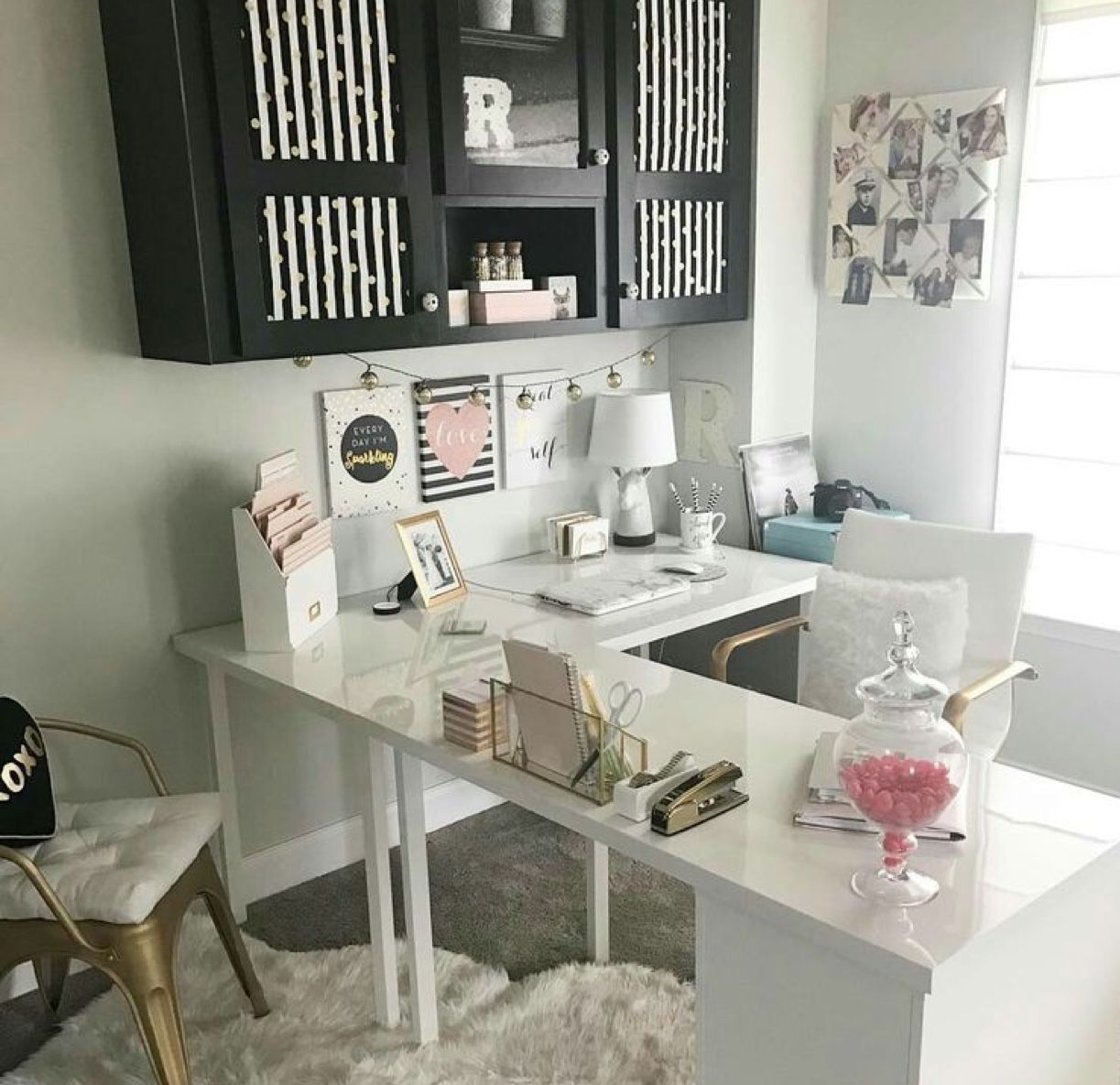 pin by laila on baddie 2 with images home office space on beautiful home desk organization ideas make comfortable what it will do for you id=23834