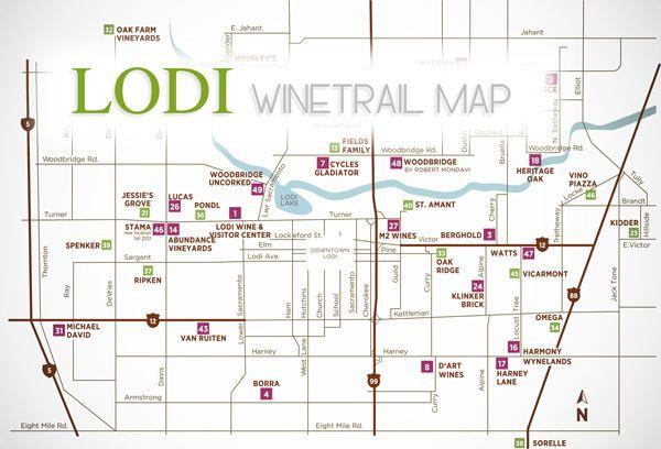 Lodi Wine Trail Map Lodi Winetrail Cawineries Wine Trails