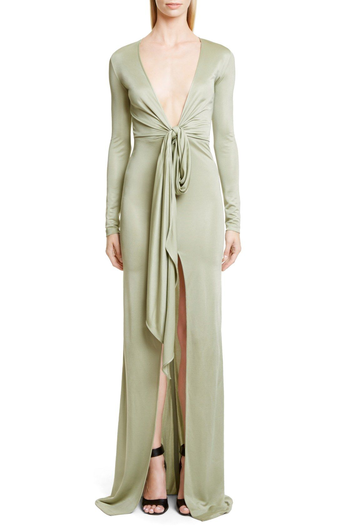 Givenchy Knot Front Jersey Gown | My Style | Pinterest | Givenchy ...