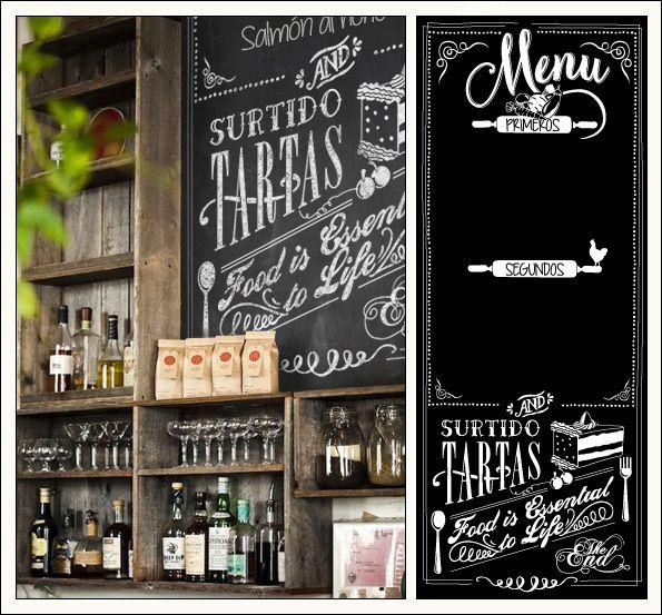 Menu dise o de cartel estilo chalkboard para restaurante for Disenos de menus para restaurantes