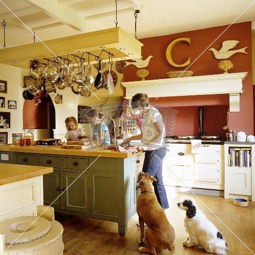 Küche, Kücheninsel Und Küche