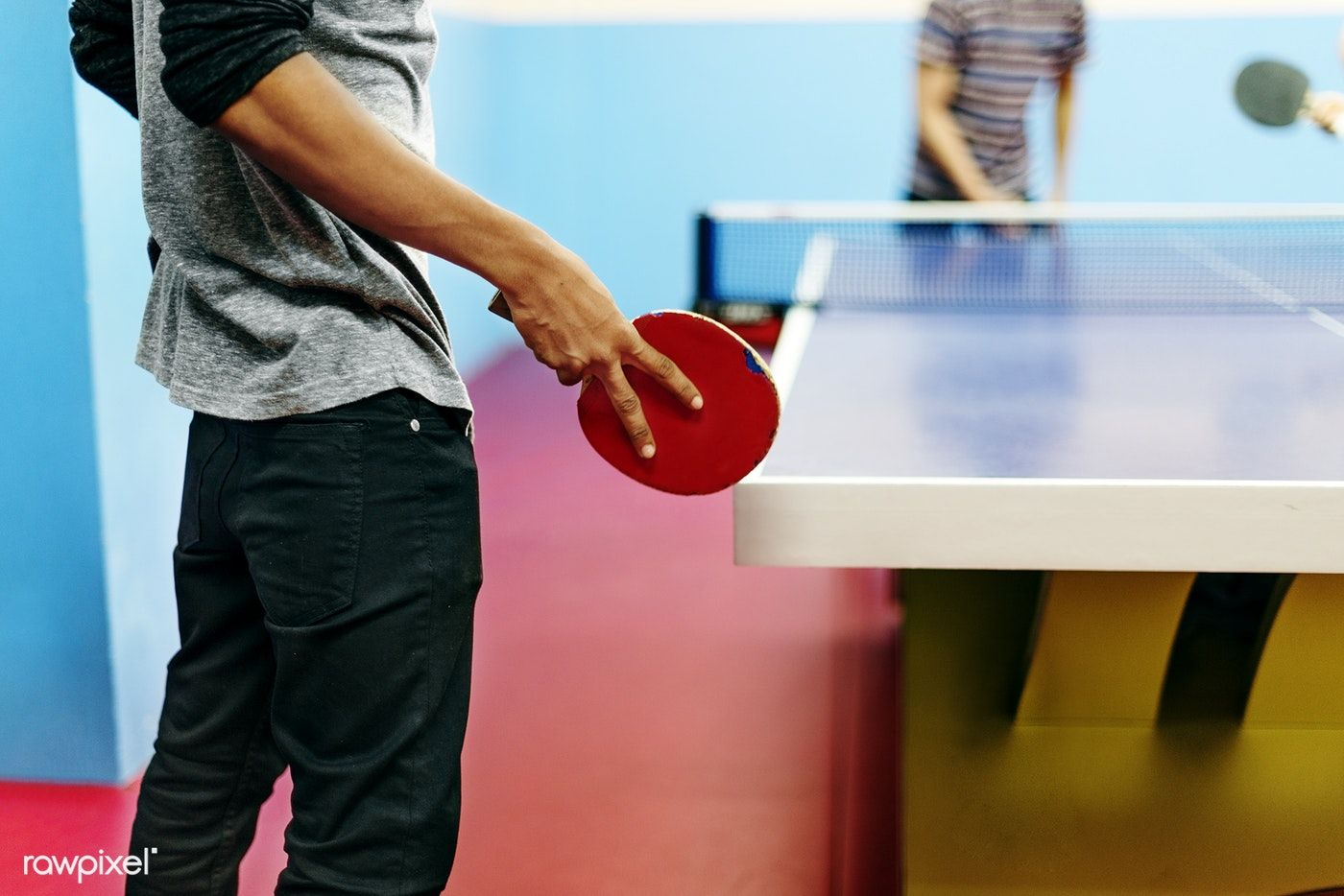 Download premium image of Friends playing table tennis 49495
