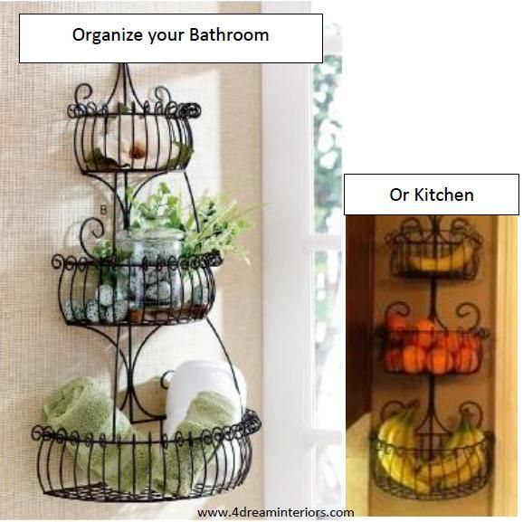 Prestige 3   Tiered Wall Basket, Helps You Organize Supplies In The  Bathroom, Kitchen Or Even In The Kids Rooms.