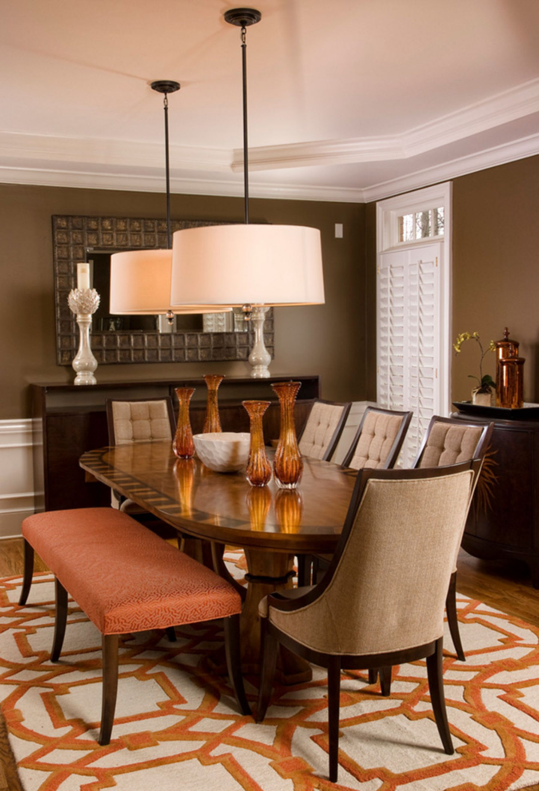 25 Lovely Modern Rugs Ideas For Your Dining Room Orange Dining